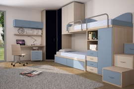 Armadio Con Letto A Castello.Camerette A Ponte Badroom By Caremi